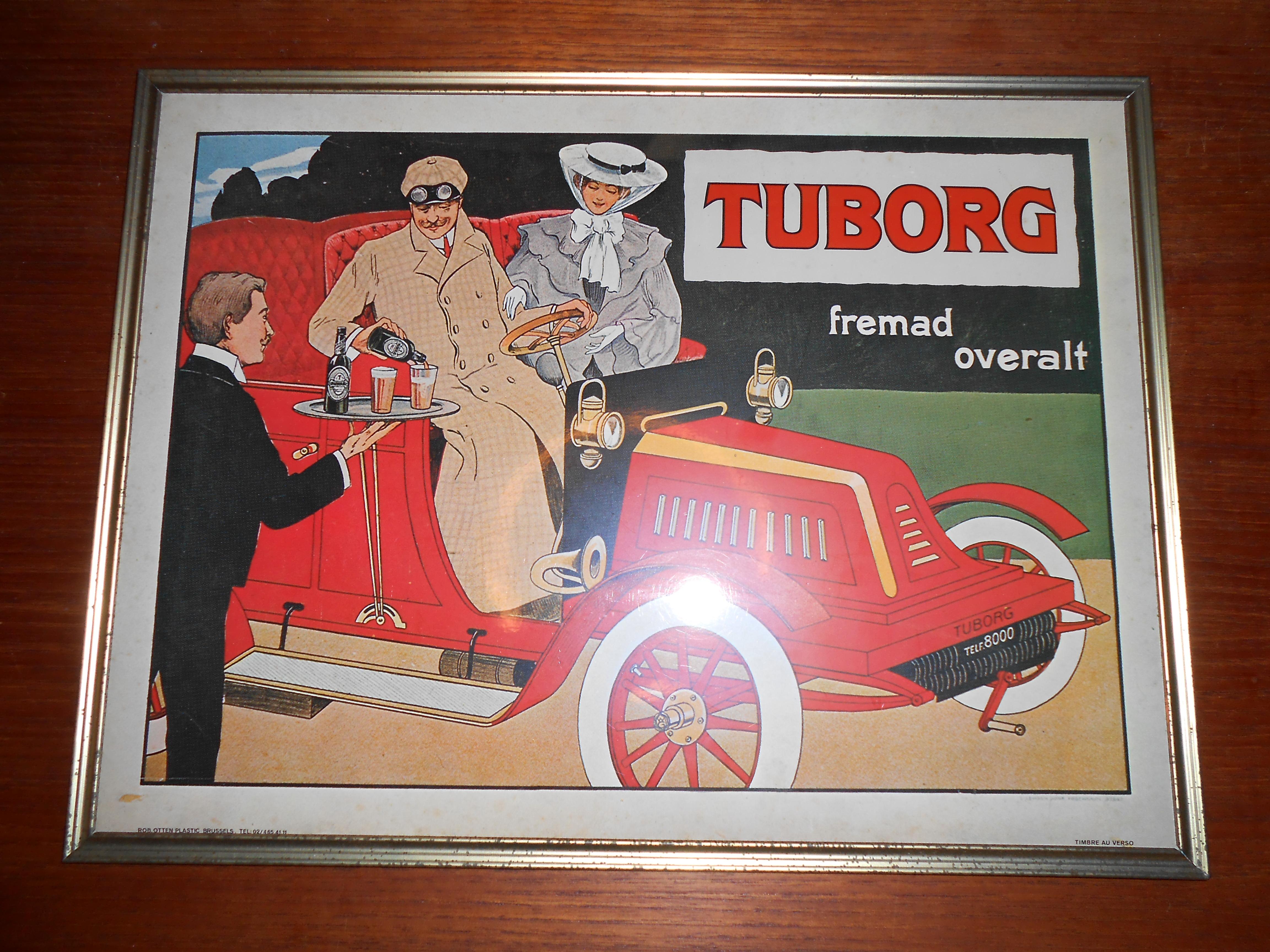 Kendt Indrammet Tuborg skilt i celoid: dk 1970'erne – retro-design.dk SK72