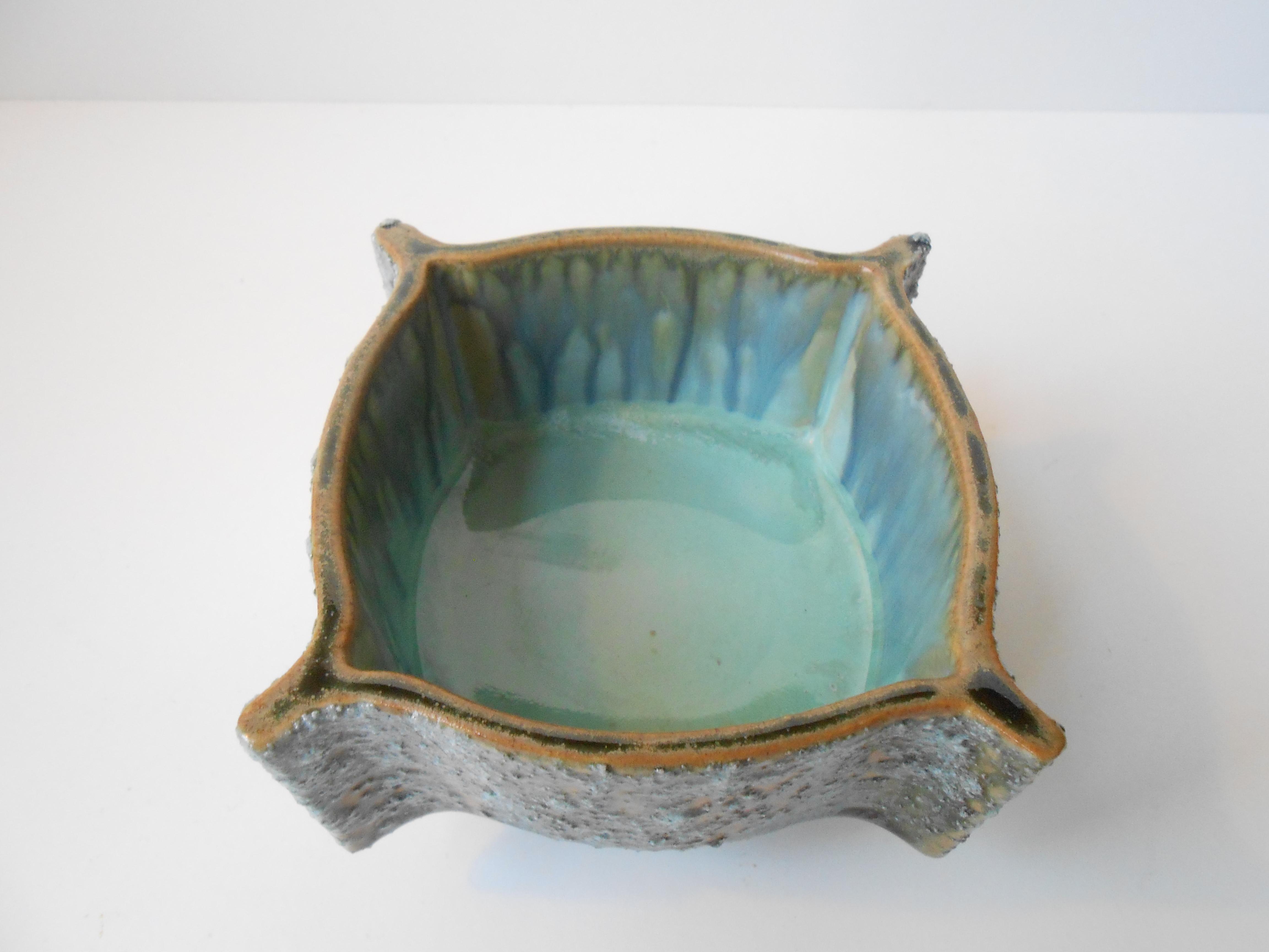 japansk keramik Turkis skål i keramik: Japan 1960 70 – retro design.dk japansk keramik