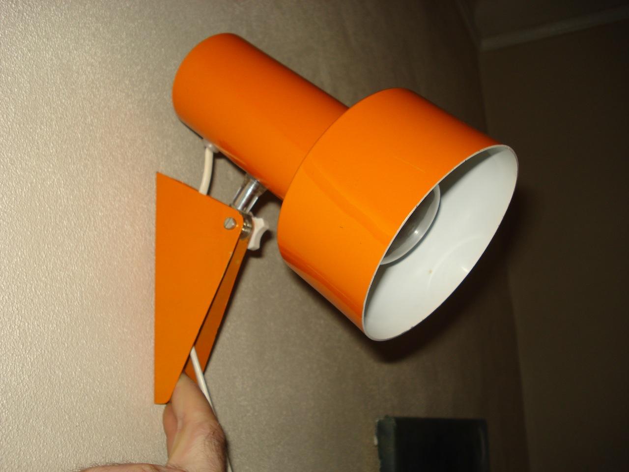 Orange retro v u00e6glampe u2013 retro design dk