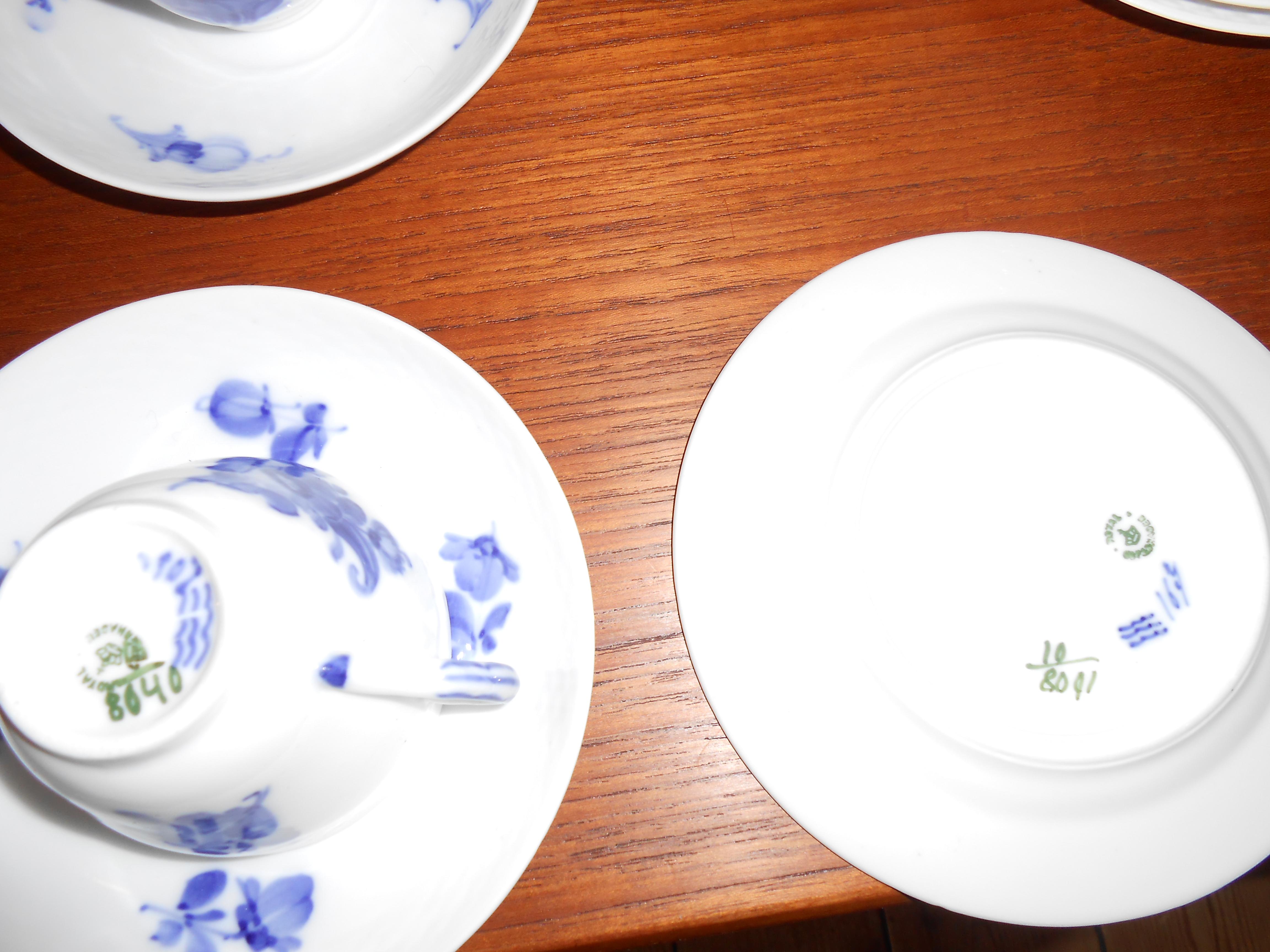 Kongeligt porcelæn – blå blomst kaffestel