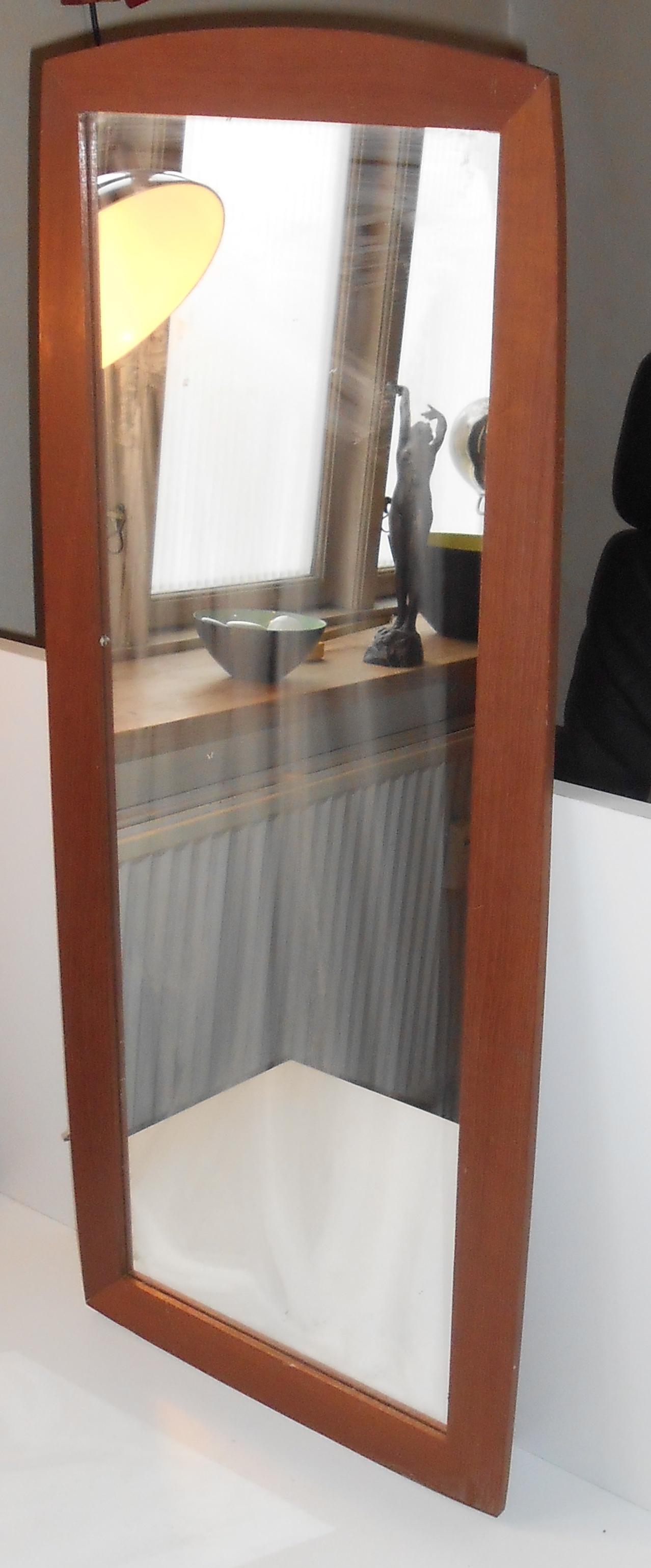 Storslået Aflangt spejl i teak: ca 1960 – retro-design.dk EC22