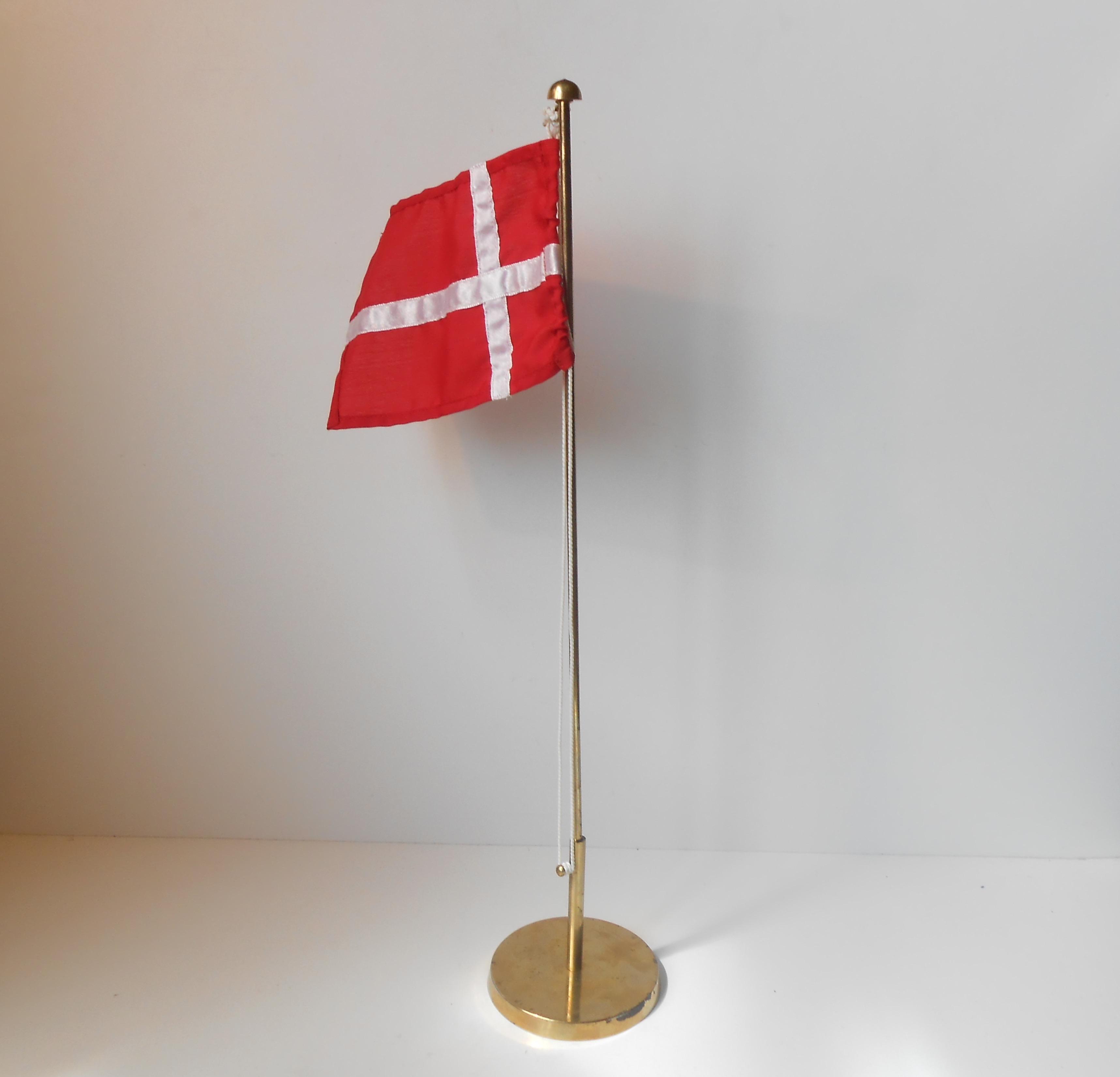 bordflagstang i sølv