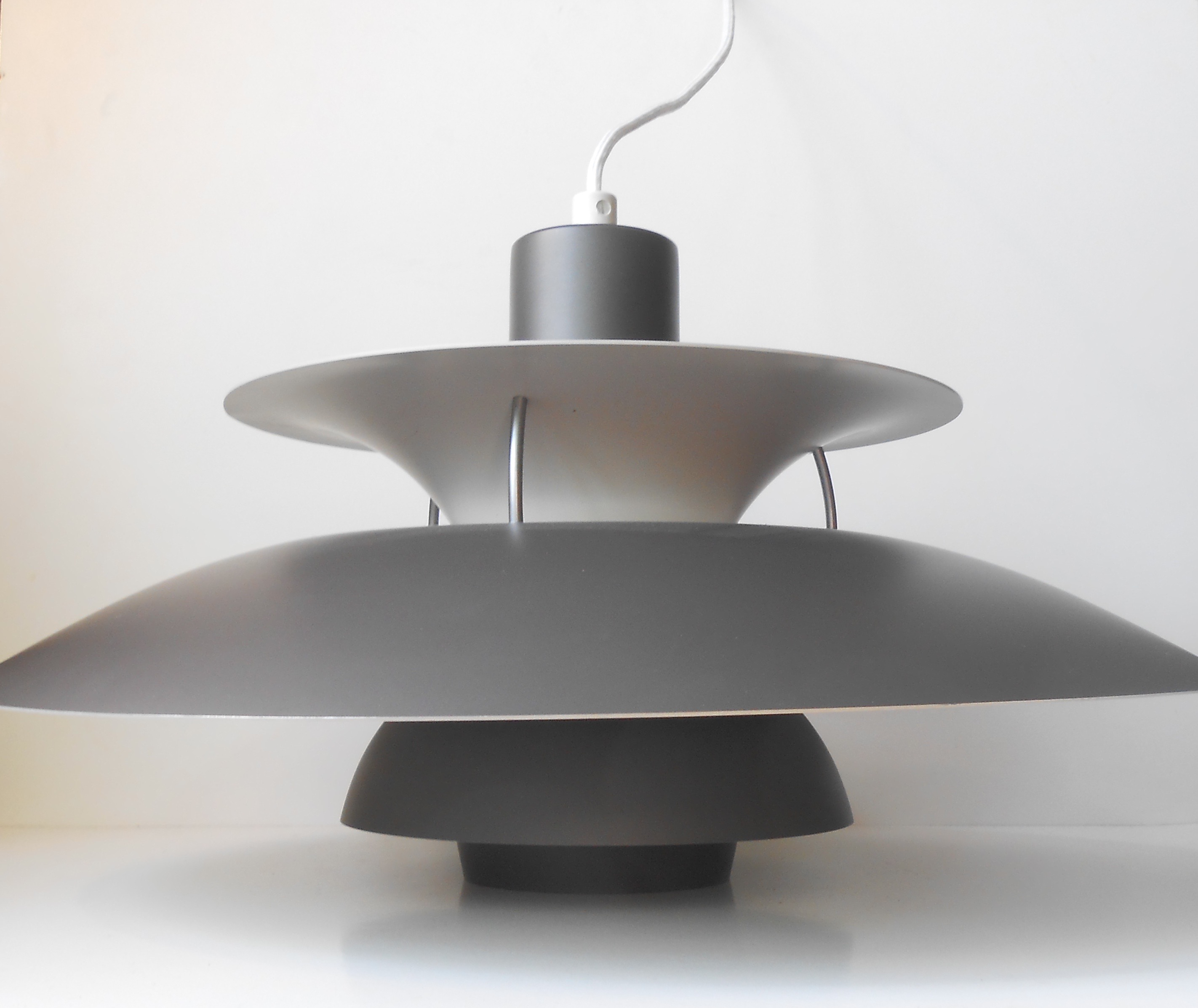 PH 5 loftlampe - skiffer gr?: Louis Poulsen - retro-design.dk