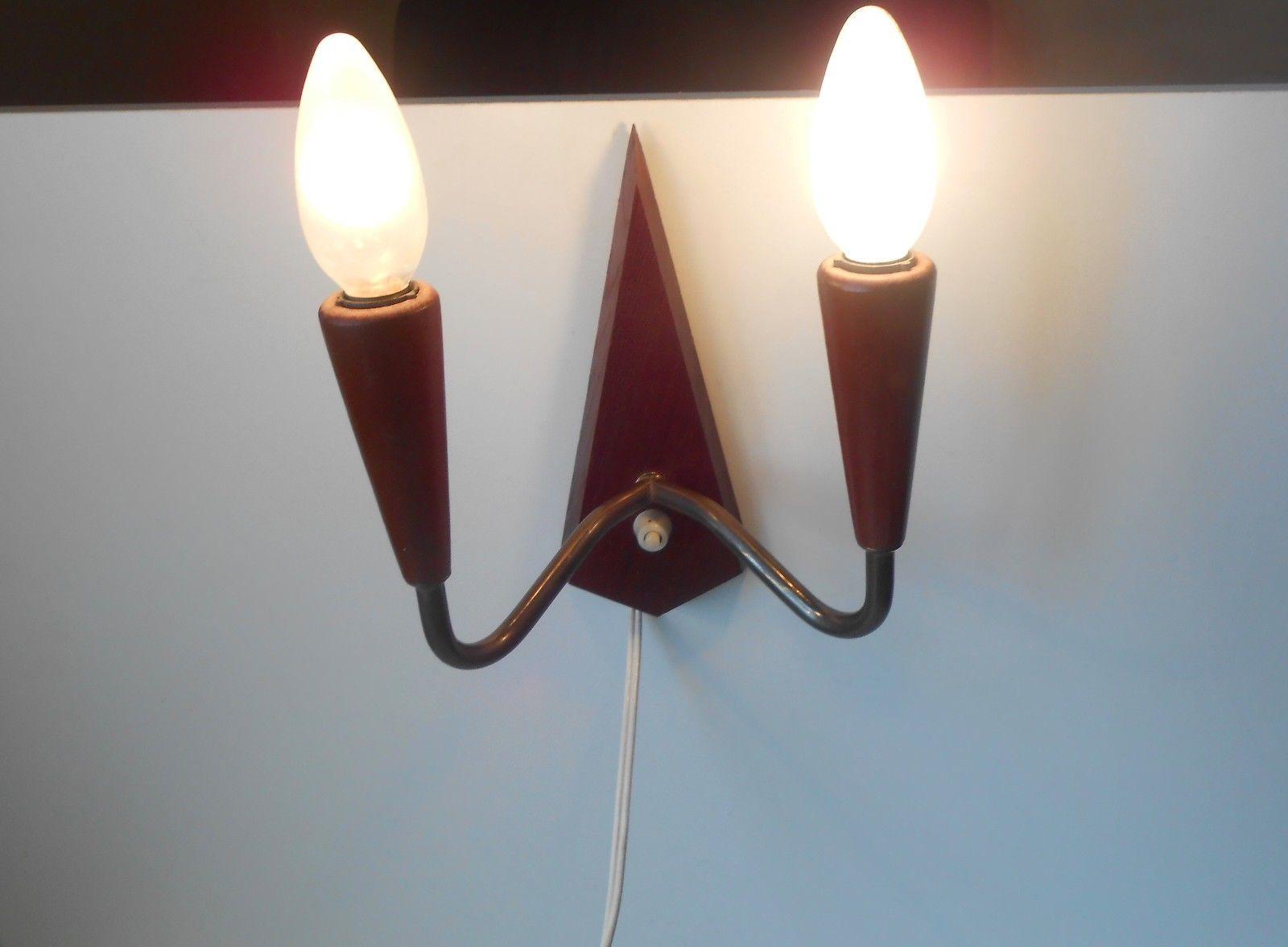 Væglampet I Teak Og Messing: Dk 1960u0027erne U2013 Retro Design.dk