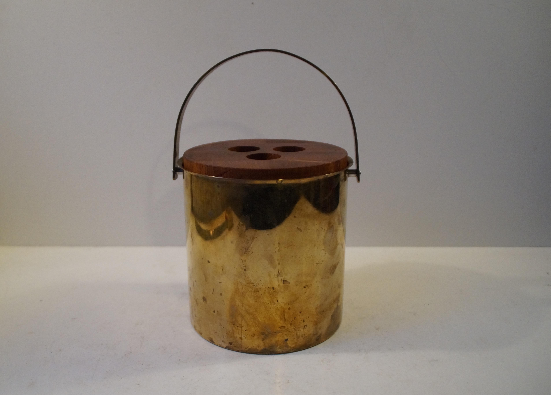 Arne Jacobsen Cylinda Line isspand af messing 1960 u2019erne