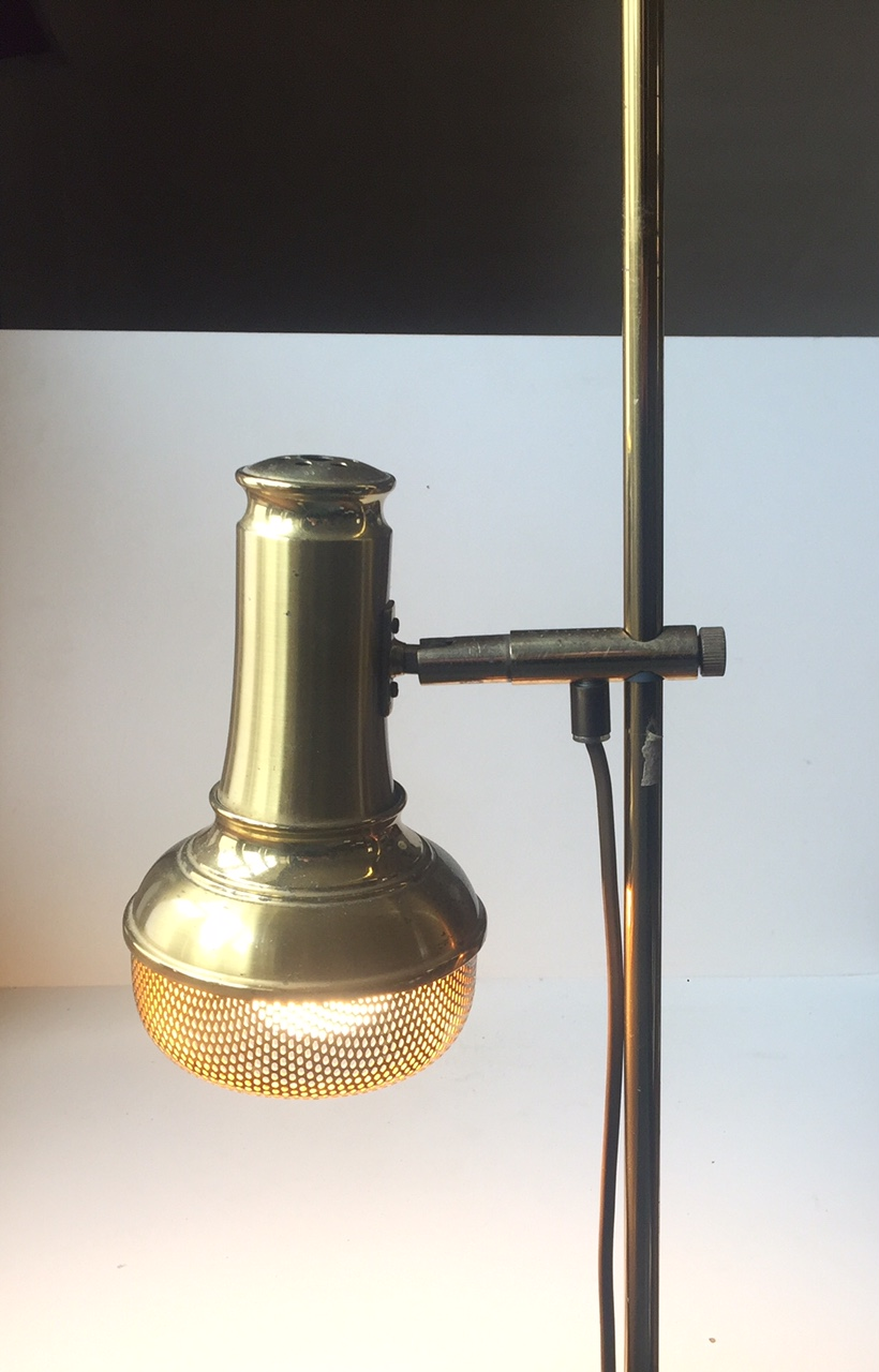 Standerlampe af messing dansk design 1960 u2019erne u2013 retro design dk